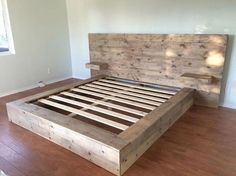 DIY bed ideas to make your bedroom fabulousDIY bed ideas to make your bedroom Best Recycled Pallet Bed Frame DIY Ideas - bed Frame Ideas . - B Best Recycled Pallet Bed Frame Box Bed Frame, Pallet Bed Frames, Diy Pallet Bed, King Size Bed Frame, Bed Frame And Headboard, Bed Frame With Storage, Wooden Bed Frames, Wood Beds, Diy King Bed Frame