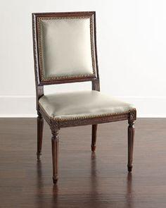 H7SZF Massoud Ingram Leather Dining Chair, D6