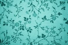 aqua wallpaper floral | Teal Floral Print Fabric Texture Picture | Free Photograph | Photos ...