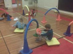 Keep two hands on the wheel! Pe Activities, Gross Motor Activities, Gross Motor Skills, Physical Activities, Movement Activities, Fitness Activities, Elementary Physical Education, Elementary Pe, Health And Physical Education
