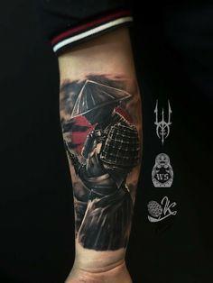 Tattoo Ivan Scherbakov - tattoo's photo In the style Whip Shading, Male, Asian, Warrio Japanese Warrior Tattoo, Japanese Tattoos For Men, Japanese Tattoo Designs, Japanese Sleeve Tattoos, Best Sleeve Tattoos, Tattoo Sleeve Designs, Warrior Tattoo Sleeve, Samurai Tattoo Sleeve, Samurai Warrior Tattoo