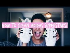 HOW TO CLEAN ADIDAS SUPERSTARS! - YouTube