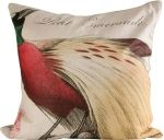 Red (Lesser) Bird of Paradise / Facing Left Pillow