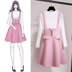 New ideas fashion design dress style Kawaii Fashion, Cute Fashion, Trendy Fashion, Korean Fashion, Girl Fashion, Womens Fashion, Fashion Trends, Fashion Drawing Dresses, Fashion Illustration Dresses