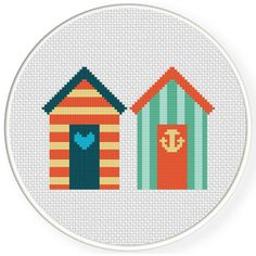 FREE for September 4th 2016 Only - Beach Houses Cross Stitch Pattern