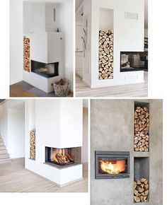 Sponsrat inlägg: Frimurad kamin från Contura (Trendenser) - New Deko Sites Home Fireplace, Modern Fireplace, Living Room With Fireplace, Fireplace Design, Home Living Room, Living Room Designs, Living Room Decor, Scandinavian Fireplace, Interior Design Minimalist
