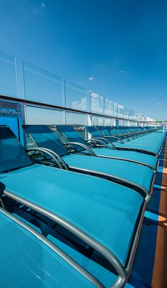 Sun tanning or people-watching? Either way, Anthem of the Seas has us comfortably covered. Grab a deck chair on sea days and enjoy the scenery or just people-watch. Anthem of the Seas has more than enough seats.