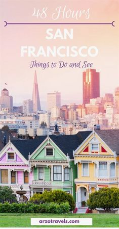 Find out what to do in San Francisco in 3 days. Where to go and what to see - here are the best tips for a long weekend in San Francisco- one of the most beautiful places in the USA. #TravelDestinations