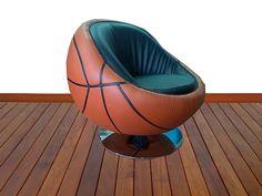 Silla en forma de balon  de basketball.