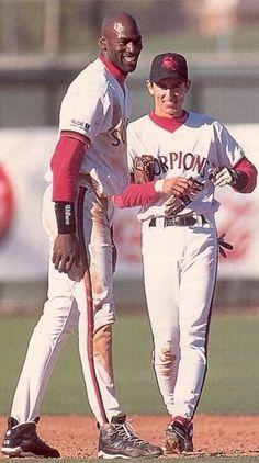 57063ed2572f Michael Jordan x Nomar Garciaparra on the Scottsdale Scorpions in 1994  Michael Jordan Baseball