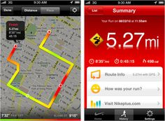 Nike+ summary and map