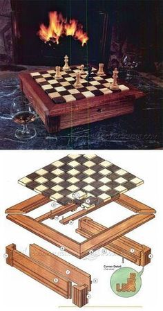 Chess Board Plans - Woodworking Plans and Projects | WoodArchivist.com #WoodworkingProjectsChessboard