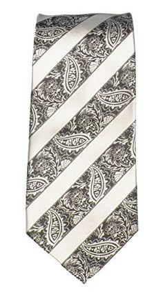 Lucci 100% Silk Woven, Black Silver, Paisley Stripe Mens Tie Lucci http://www.amazon.com/dp/B00GKTRZ2Q/ref=cm_sw_r_pi_dp_Bq-.wb02SM577