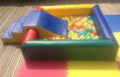 Ball Pit with soft stairs and slide from Fozzys Soft Play Hire http://facebook.com/fozzyssoftplayhire