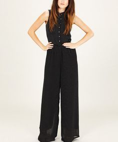 Take a look at this Black & White Jodie Jumpsuit by Sugarhill Boutique on #zulily today!