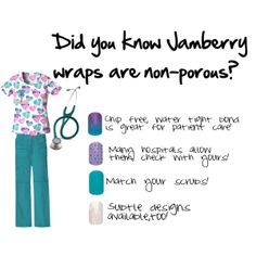 Nails that aren't just tough...they're nurse tough!  Get the look jennibell.jamberrynails.net