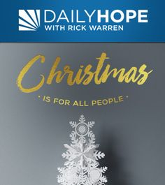 Christmas is for all people. Many people think that gift giving at Christmas was started by the wise men when they brought the first gifts to the baby Jesus in the manger. But it was God who gave the first Christmas gift. Join Pastor Rick as he talks about God's generosity, and how Christmas without the cross has little meaning.