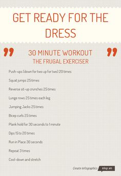 Sweat for the wedding with this great cardio workout. You can use ...