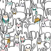 Hipster Cats wallpaper by vo_aka_virginiao for sale on Spoonflower - custom wallpaper