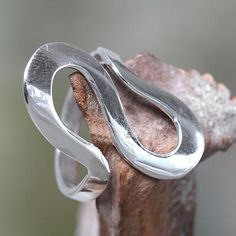 Sterling silver band ring, 'Almost Infinite' - Fair Trade Balinese Jewelry Sterling Silver Band Ring