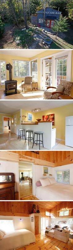 A small and cozy cabin in the woods of northern Ontario. - Home Decors Little Houses, Tiny Houses, Small Space Living, Small Spaces, Micro House, Cabins And Cottages, Cozy Cabin, Tiny House Living, Cabins In The Woods
