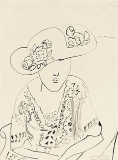 Henri Matisse, Femme au chapeau Wouldn't this be great stenciled onto a bedroom wall?