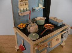 One Inch Scale Shabby Chic Stove by StorybookMiniatures on Etsy