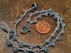 Chamsa / Hamsa Hand Pendant Child's necklace choker by wandandwear, $11.95