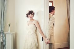 Wedding anticipation love cute wedding couples smile country bride groom