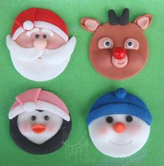 Christmas cupcake toppers set of 12 by HappyCaker on Etsy, $27.99