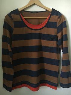 Moje Pruhované triko s rolovacím rukávem velikost 42/44 od George! Velikost 42 / 14 / L za80 Kč. Mrkni na to: http://www.vinted.cz/damske-obleceni/s-dlouhym-rukavem/13189871-pruhovane-triko-s-rolovacim-rukavem-velikost-4244.