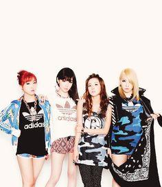 2ne1 CL Park Bom Dara Minzy 2ne1 Adidas
