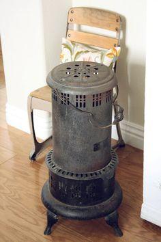 Vintage Rusted Metal Heater