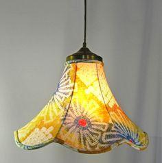 Lamp Shade Pendant Hand Made Vintage Japanese by JudisLamps, $295.00