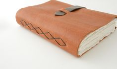Number 33: Leather Journal with Diamond Pattern
