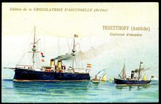 "https://flic.kr/p/8VjyoR | French Tradecard - Austrian Warship ""Tegethoff"" 