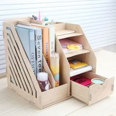 Household or office supplies Large drawer desktop storage box Wooden file holder Creative file box Wooden racks Price history. Subcategory: Home Storage & Organization. Wooden Storage Boxes, Diy Storage, Wooden Boxes, Office Storage, Storage Bins, Storage Rack, Diy Desktop, Desktop Storage, Make Up Organiser