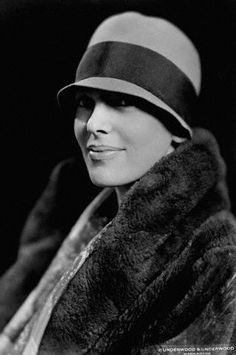 Amelia Earhart - love the hat, not the fur