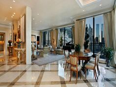 THE PENTHOUSE: My home in the city - right on 5th Ave ;) I'd totally have to redecorate this space, though.
