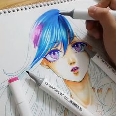 Drawing Architecture Videos Black And White Copic Marker Drawings, Pencil Art Drawings, Art Drawings Sketches, Sketch Markers, Copic Kunst, Copic Art, Copic Sketch, Anime Girl Drawings, Anime Art Girl