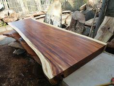 Natural Wood Slab Table Natural Wood Table, Natural Wood Furniture, Solid Wood Table, Wood Slab Dining Table, Dining Room Table, Wood Tables, Dining Furniture, Hardwood For Sale, Woodworking Inspiration