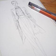 W.I.P #WIP #fashionillustration #tiraquynh #sketch #illustrations