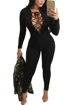 d7a37535ca8 jocelyn katrina brand Autumn winter new design rompers women jumpsuit v  neck up bodysuit women overalls sexy jumpsuit