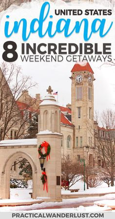 8 beautiful Weekend Getaways in Indiana - 8 of the best weekend getaways in Indiana, from a graduate of the University of Indiana (GO HOOSIERS)! Indiana is full of surprising weekend trips. Indianapolis in Indiana, and the Indiana Travel Madison Indiana, Bloomington Indiana, Indianapolis Indiana, Best Weekend Getaways, Weekend Trips, Day Trips, Weekend Packing, Usa Travel Guide, Travel Usa