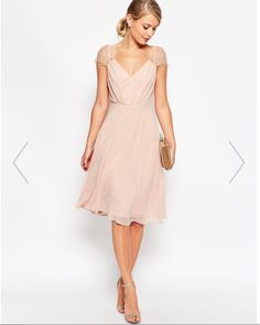 Midi Dress by ASOS Kate Lace – Nude Midi Dress by ASOS Kate Lace, Nude Color. Midi dress by ASOS Collection. Lined woven fabric. Zip back closure. Summer Wedding Outfits, Summer Wedding Guests, Dress Wedding, Summer Weddings, Guest At Wedding Outfit, Dresses To Wear To A Wedding As A Guest, Wedding Beach, Wedding Dj, Trendy Wedding