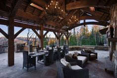 Summit Residence is a sensational rustic mountain retreat designed by Locati Architects, located in the prestigious ski resort community of Yellowstone Club, Big Sky, Montana. Montana, Yellowstone Club, Home On The Range, Outdoor Retreat, Winter House, Rustic Elegance, The Ranch, Outdoor Living, Outdoor Spaces