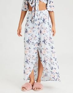 AE Floral Maxi Skirt by  American Eagle Outfitters | Flower power.Flower power. Shop the AE Floral Maxi Skirt and check out more at AE.com.