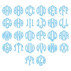 Fish Tail Circle Monogram TrueType Font - Keyboard Typeable You get two file formats: .otf OpenType and .ttf TrueType Fonts are NOT vectored graphics but fonts you actualy type out. Once installed on your computer, you can type them in any program.