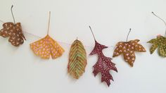 Beautiful leaf garland made by Valérie, 2015.