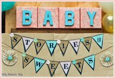 Stories and sweets storybook themed baby shower!  Includes gender neutral decorations, DIY crafts, free printables, and many classic children's books coordinated with tasty sweets and treats!